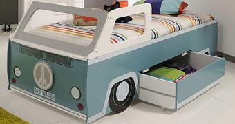 Cama Infantil em Forma de VW Kombi