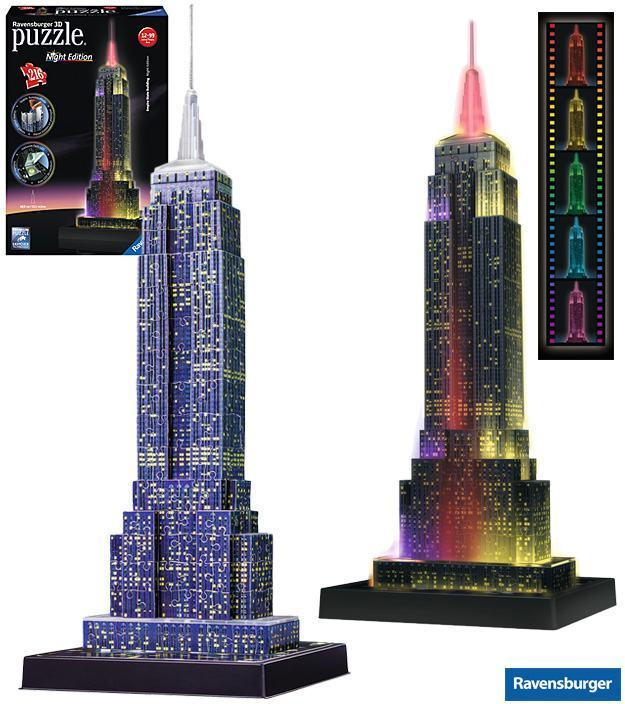 Quebra-Cabeca-Empire-State-Building-at-Night-3D-Puzzle-01