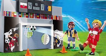 Copa do Mundo 2014: Gol com Placar Eletrônico e 2 Jogadores Playmobil