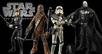 Star Wars Black Series: Jedi Luke Skywalker, Chewbacca, Darth Vader e Sandtrooper!