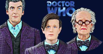 Action Figure Doctor Who: Time of The Doctor com Cabeças de Matt Smith e Peter Capaldi
