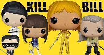 Bonecos Pop! Kill Bill: Beatrix Kiddo, Bill, O-Ren Ishii, Gogo Yubari e Crazy 88 (Quentin Tarantino)