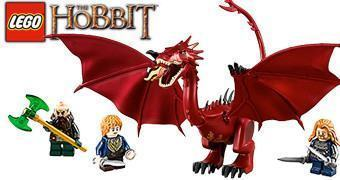 LEGO The Hobbit – The Lonely Mountain com o Dragão Smaug!