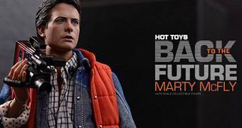 Michael J. Fox como Marty McFly em De Volta para o Futuro – Action Figure Perfeita Hot Toys