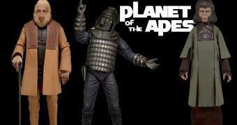 Planeta dos Macacos Action Figures Clássicas Série 2: General Ursus, Dr. Zira e Dr. Zaius