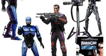 Action Figures do Videogame Robocop Vs The Terminator