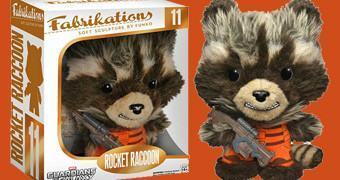 Rocket Raccoon Fabrikations Soft Sculpture – Boneco Funko Pelúcia/Vinil