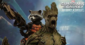 Os Guardiões da Galáxia Rocket & Groot – Action Figures Perfeitas Hot Toys