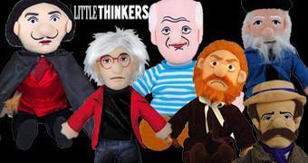 Bonecos de Pelúcia Grandes Pintores: Warhol, Picasso, Dalí, Van Gogh, Monet e Homer