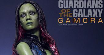 Os Guardiões da Galáxia: Zoe Saldana como Gamora – Action Figure Perfeita Hot Toys