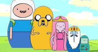 Hora de Aventura Matryoshkas: Finn, Jake, Princesa Jujuba, Rei Gelado e BMO!