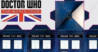 TARDIS de Papel para a Turnê Doctor Who: The World Tour