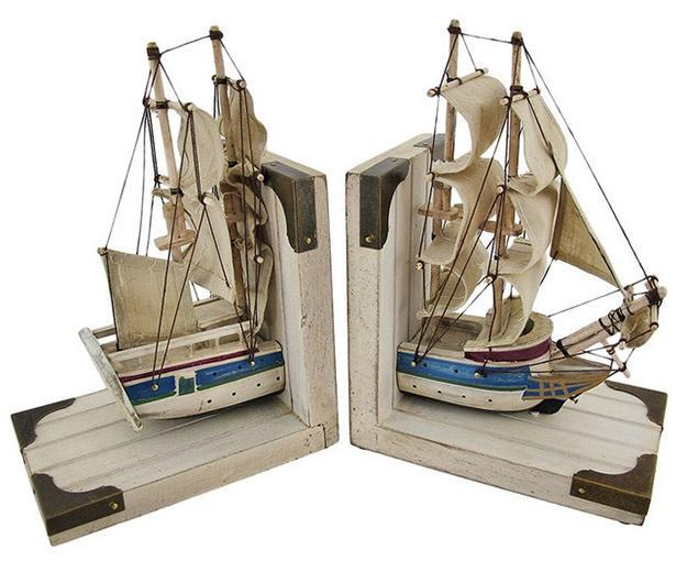 Wooden-Nautical-Tall-Ship-Bookends-02