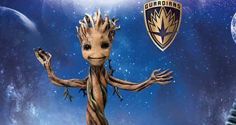 Figura Baby Groot Action Hero Vignette com 18 cm (Os Guardiões da Galáxia)