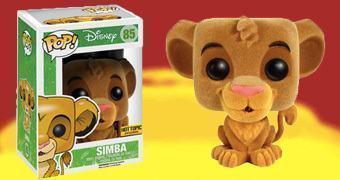 Boneco Rei Leão Simba Pop! Flocado
