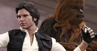 Action Figures Perfeitas Hot Toys Star Wars: Han Solo e Chewbacca