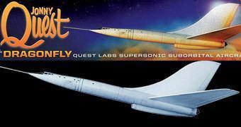 Kit de Montar SST Dragonfly: Avião do Desenho Jonny Quest!