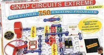 Kit Eletrônico Snap Circuits Extreme com 750 Experiências