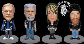 Mini Bobble Heads Sons of Anarchy: Jax, Clay, Gemma e Opie