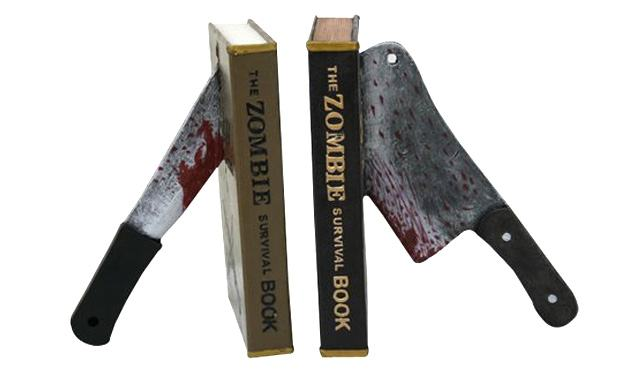 Zombie-Survival-Guide-Books-Knives-Stand-Bookends-01