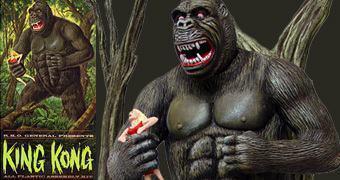 King Kong Aurora Box Art Tribute – Kit Pré-Montado da 8º Maravilha do Mundo!