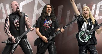 Estátuas SLAYER Rock Iconz: Kerry King, Tom Araya e Jeff Hanneman