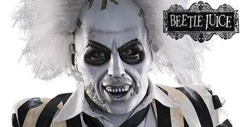 Máscara do Fantasma Beetlejuice no Filme Os Fantasmas se Divertem de Tim Burton