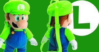 Mochila de Pelúcia do Luigi (Super Mario Bros)