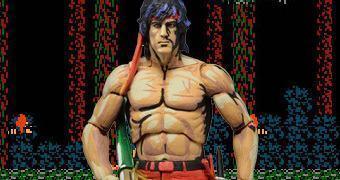 Action Figure Rambo NES do Clássico Videogame 8-bit