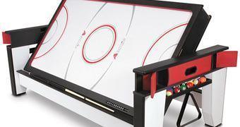 Mesa de Jogos Giratória: Air Hockey e Sinuca!