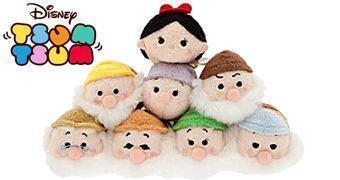 Bonequinhos de Pelúcia Disney Tsum Tsum Branca de Neve e os 7 Anões