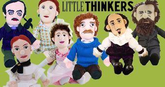 Bonecos de Pelúcia Grandes Escritores: Poe, Dickens, Virginia Woolf, Jane Austen, Emily Dickinson, Vonnegut e Shakespeare