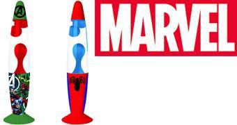 Lâmpadas de Lava Marvel: Vingadores e Homem-Aranha
