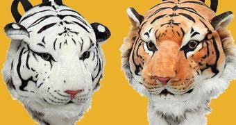 Mochilas Animais: Tigre Amarelo e Tigre Branco!