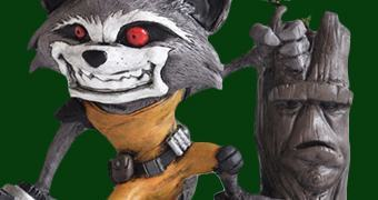 Estátua Toy Art RX Rocket Raccoon e Groot (Os Guardiões da Galáxia)