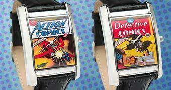Relógios de Pulso DC Comics Retro com Batman e Superman