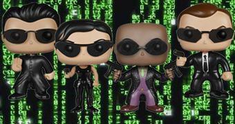 Bonecos Funko Pop! The Matrix: Neo, Trinity, Morpheus e Agente Smith