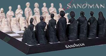 Tabuleiro de Xadrez Sandman com os Perpétuos de Neil Gaiman!