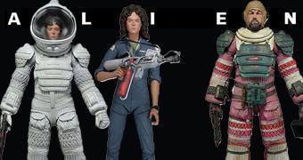 """Action Figures Alien 7"""" Série 4: Ellen Ripley e Dallas"""