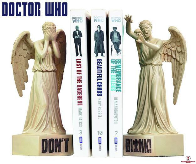 Apoios-de-Livros-Doctor-Who-Weeping-Angel-Bookends-Dont-Blink-01