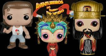 Bonecos Funko Pop! Os Aventureiros do Bairro Proibido com Kurt Russell