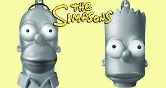 Chaveiros de Peltre Os Simpsons: Homer e Bart Simpson