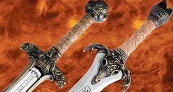 Espadas e Escudo do Filme Conan, o Bárbaro de 1982