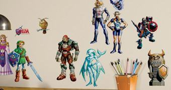 Adesivos de Parede The Legend of Zelda Ocarina of Time 3D