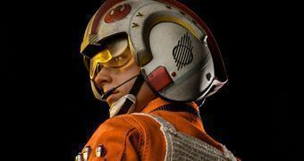 Luke Skywalker: Red Five X-wing Pilot – Action Figure Perfeita Sideshow Collectibles