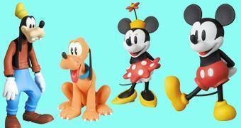 Bonecos Disney Medicom UDF: Mickey, Minnie, Pateta e Pluto