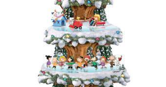 Árvore de Natal Animada Peanuts