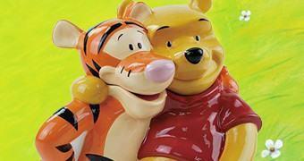 Potes de Cookies Ursinho Pooh com Tigrão e Leitão