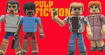 Pulp Fiction Diner Showdown Minimates: Vincent, Jules, Pumpkin e Honey Bunny