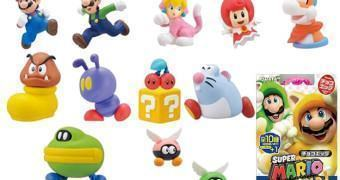 Mini-Figuras Super Mario World 3D Gachapon Chocolate Egg